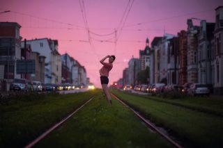 Sonnenuntergang in Schwerin